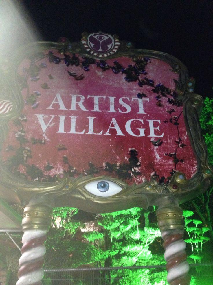 Entrance to artist village