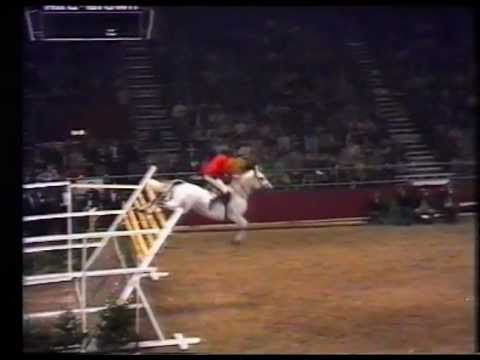 British high jump record of 2.32 m set in 1978 by Nick Skelton on Everest Lastic at Olympia, London.