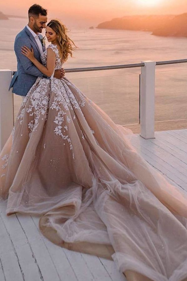 248 40 Fantastic Tulle Ball Gown Wedding Dresses With Beadings