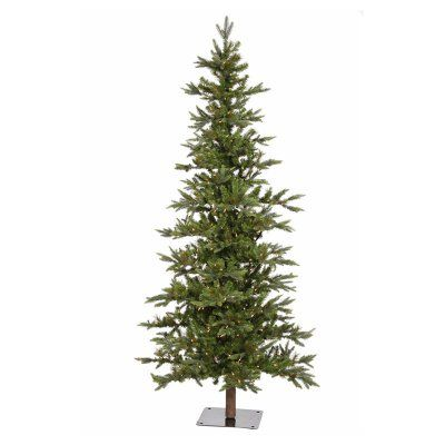8 ft. Shawnee Pre-lit Christmas Tree - A101881LED I'm thinking of around 6 feet, slim, and love exposed bark.