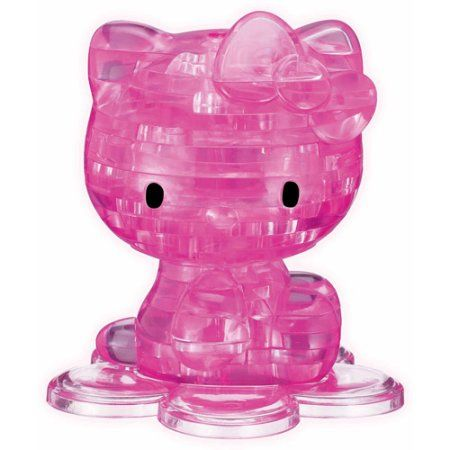 3D Crystal Puzzle, Hello Kitty, Multicolor
