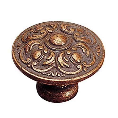 Large Antique Copper Cabinet Knob