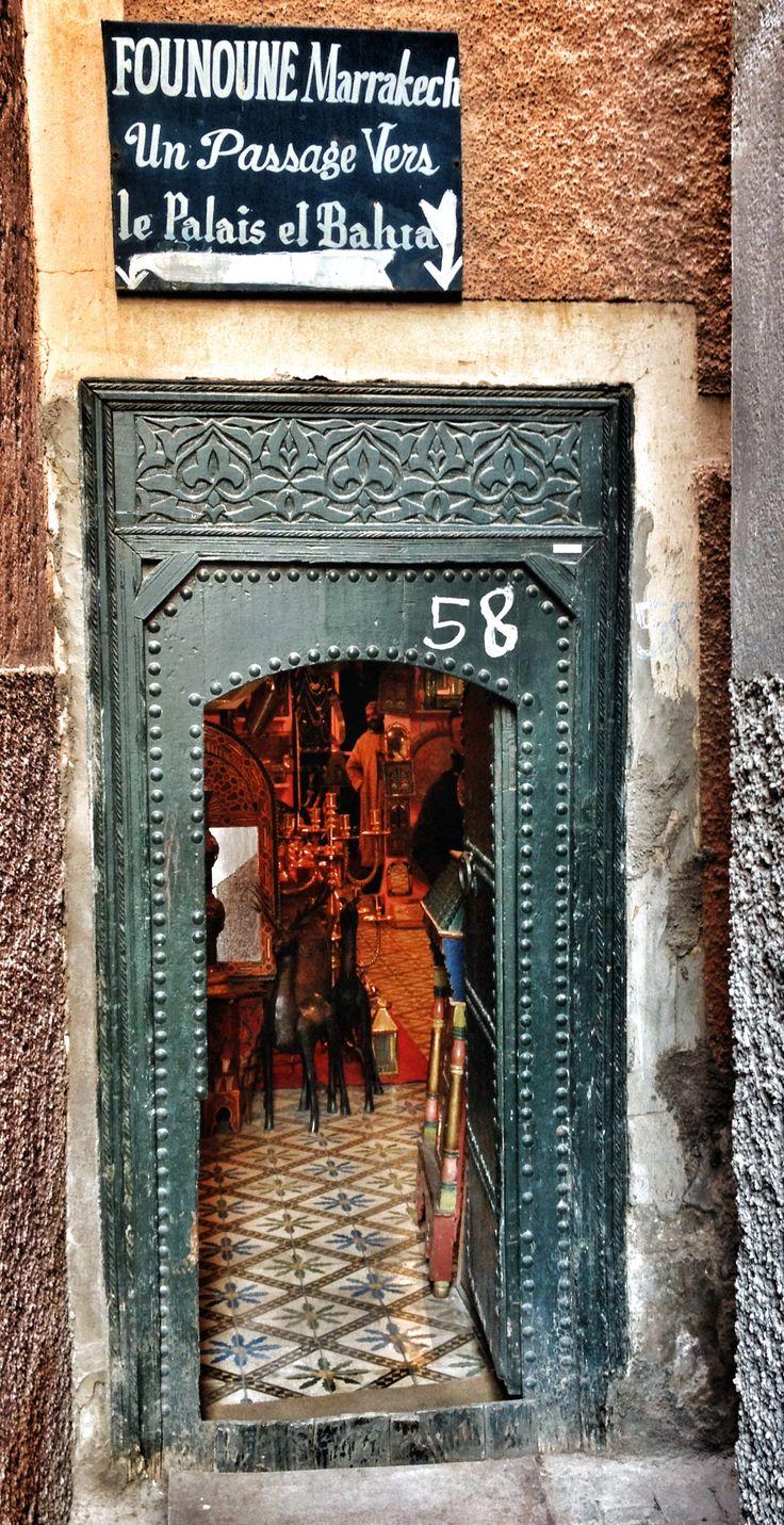"""Le """"fameux"""" passage vers le Palais El Bahia - Marrakech. © Copyright Yves Philippe"""