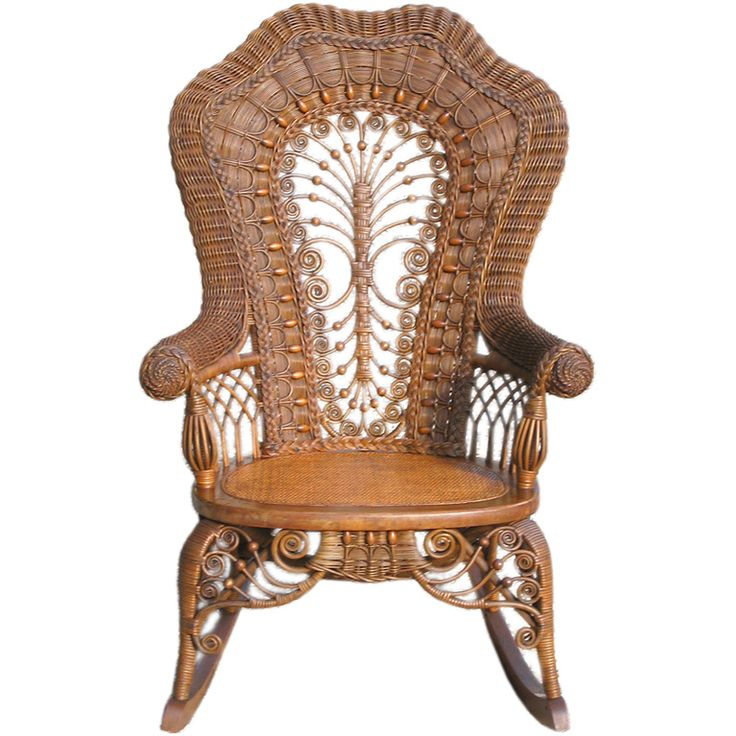 VICTORIAN WICKER ROCKING CHAIR - 99 Best Antique Wicker Chairs/Furniture Images On Pinterest Cane