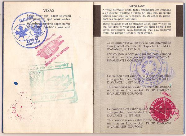 EXPO 67 Passport