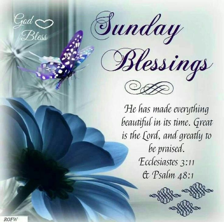 Sunday Blessings (Ecclesiastes 3:11 & Psalm 48:1)