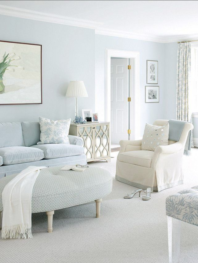 Amazing Baby Blue Wall Paint Homey Design Light Blue Paint Colors For Bedrooms 2 Benjamin Moore Light Blue Living Room Blue Living Room Monochromatic Room