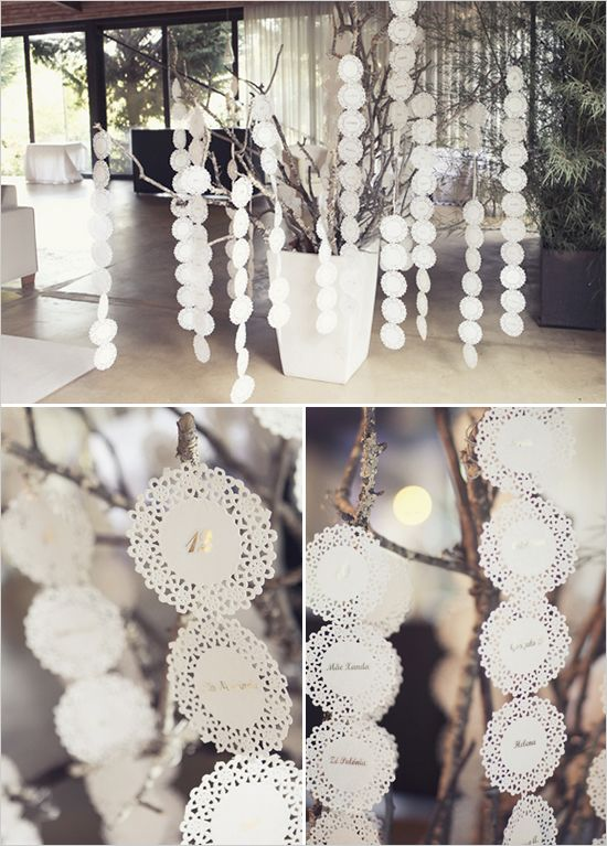 doily seating chart tree