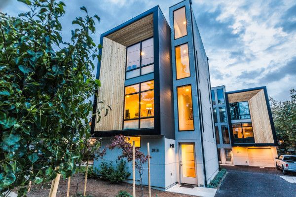 Modern Prefab Townhomes In West Seattle Architecture