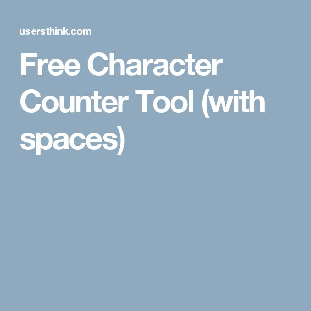 Free Character Counter Tool (with spaces)