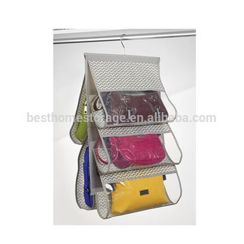 Transparent Hanging Purse Organizer Closet Storage Handbag Satchel Rack  Organizer Bag Holder