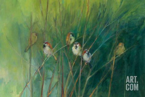 Summer Sparrows Art Print by Ellen Granter at Art.co.uk
