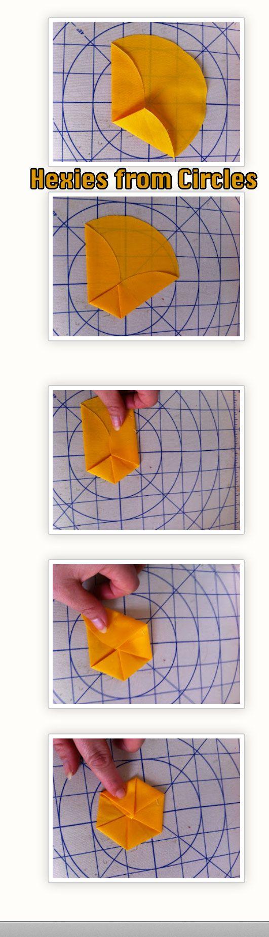 Making Hexagons from Circles http://ucanquilt2.blogspot.com/2013/03/tutorial-for-making-hexagons-from.html