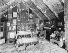 Guide Maggie's house at Whakarewarewa in about 1910. Lots of other pictures like this in David Andrew's book, The two worlds of Maggie Papakura. Borrow it from the Rotorua District Library 920.72 MAK