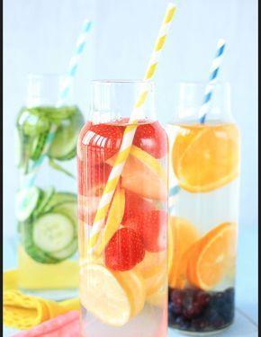 Idees de recettes d'eaux detox - Water detox fruits