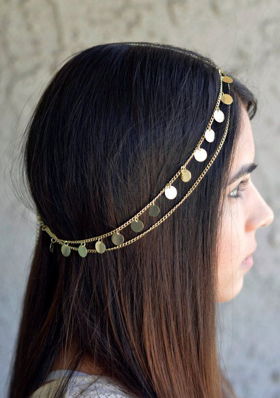 Womens Gypsy Princess Gold Coin Headpiece