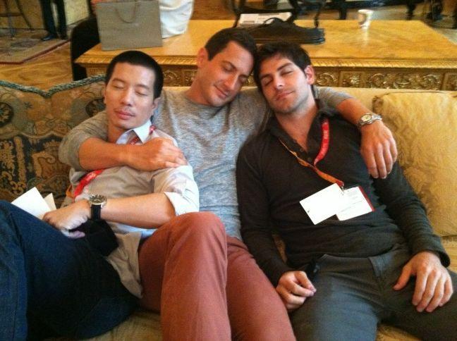 Reggie Lee, Sasha Roiz, and David Giuntoli take a nap @ grimm-comic-con-2012-01