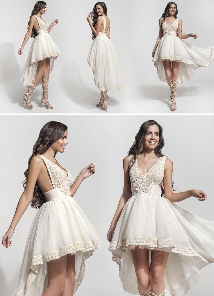 "Mod ""Keila"" vintage wedding dress, boho wedding dress, VG Ζolotas, Atelier Zolotas, Handmade wedding dress, women fashion, bridal fashion, bride, short wedding dress"