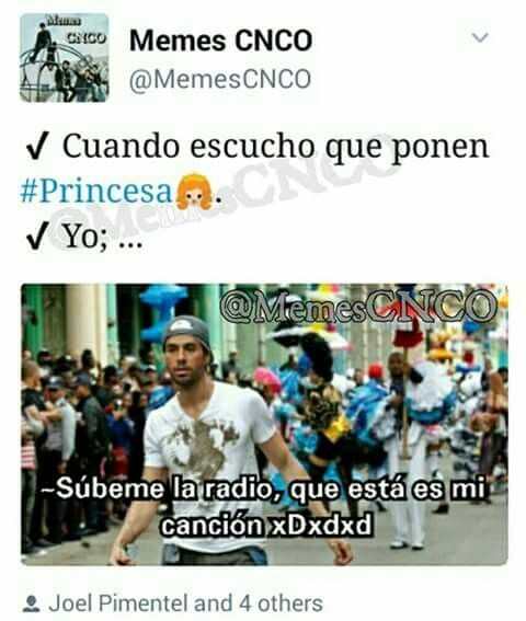 Memes CNCO   It's great because I love both those songs!Estan mis canciones! ❤