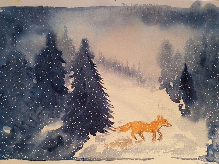 Aquarelle by Charlotte Wiktorsdotter