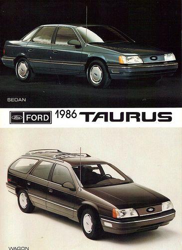 1986 Ford Taurus Sedan and Station Wagon