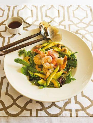 Σαλάτα με γαρίδες, αβοκάντο και σος Ταϊλάνδης | Συνταγές, Σαλάτες | athenarecipes
