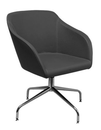 e Gamma Spider Visitor Chair features a Simple one piece comfortable moulded Back Shell seated.com.au #seated #budget #office #design