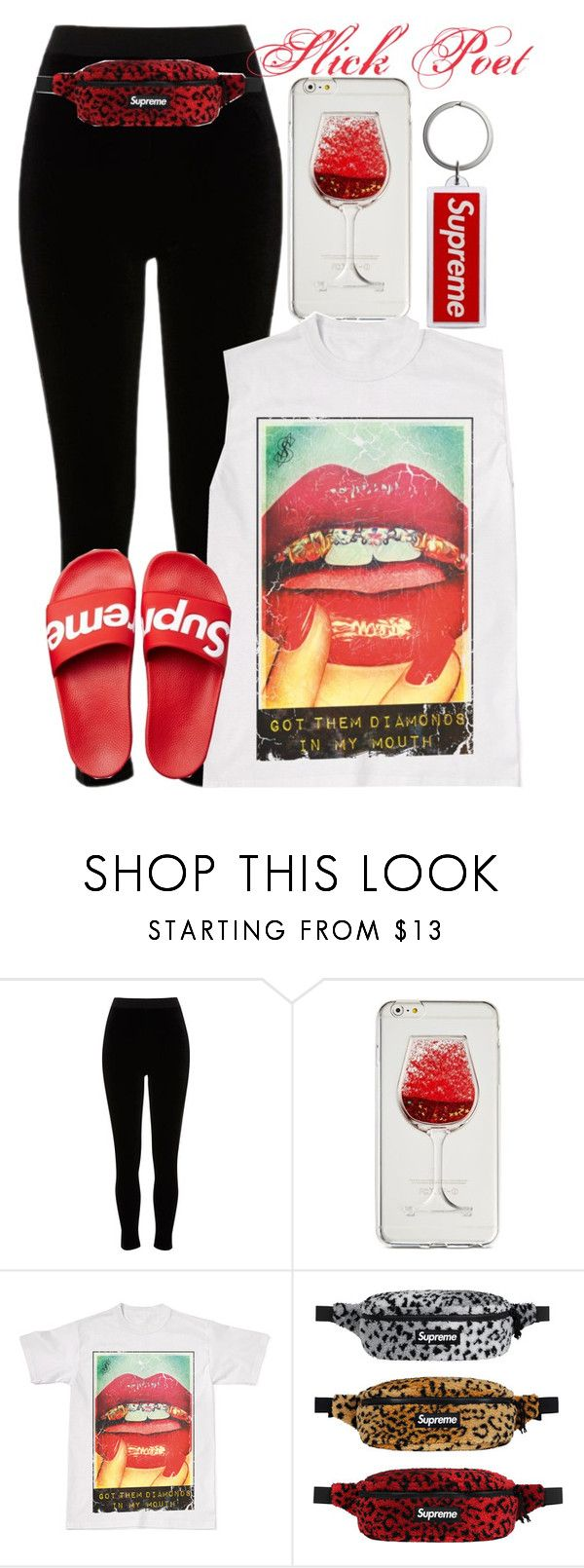 """Supreme Chill"" by slickpoet ❤ liked on Polyvore featuring River Island, Celebrate Shop and OBEY Clothing"