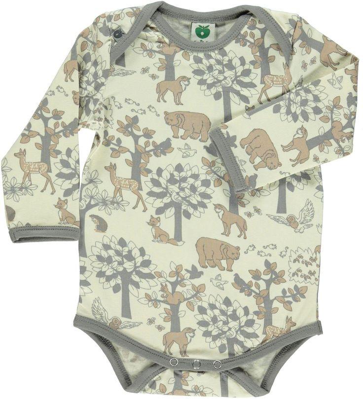 Smafolk l/s bodysuit - Landscape - Cream Retro Baby Clothes - Baby Boy clothes…