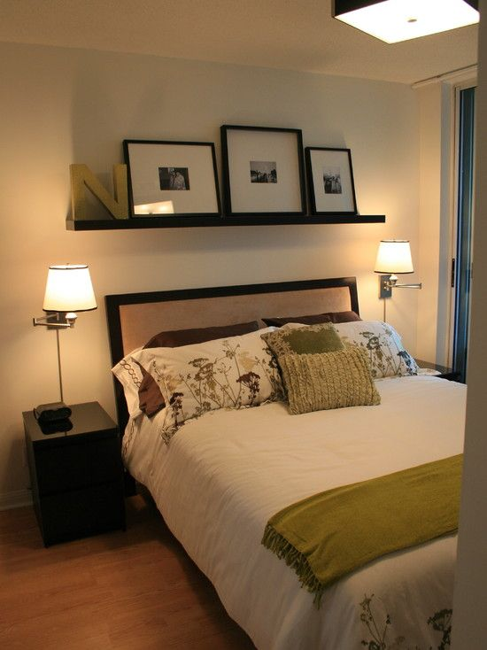 Floating shelves design pictures remodel decor and - Above the headboard decorating ...