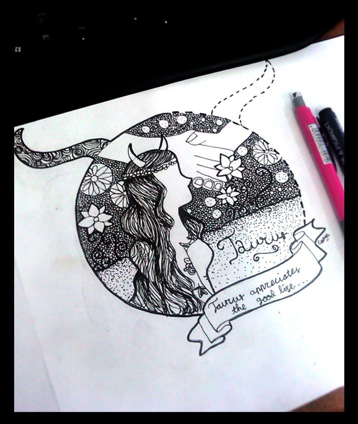 Taurus Illustration - Zodiac Illustration