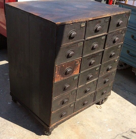 Vintage Antique Industrial Furniture Chairs Table