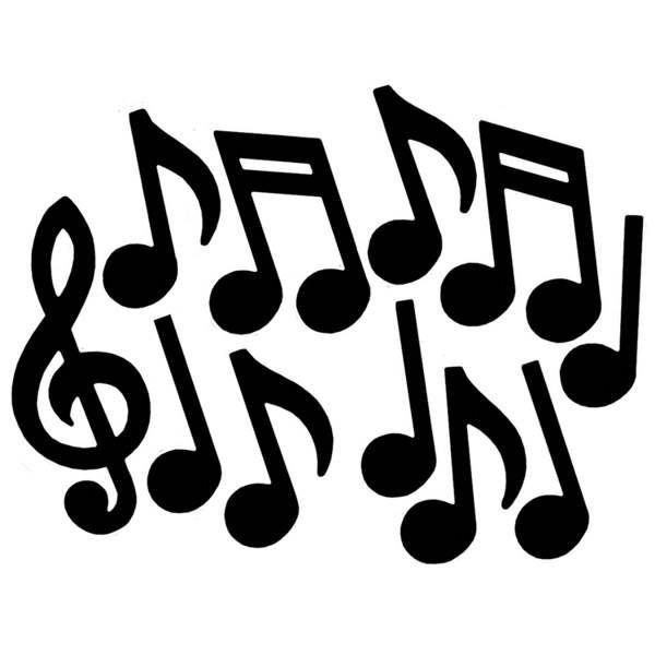 Decoratie Muzieknoten Silouettes
