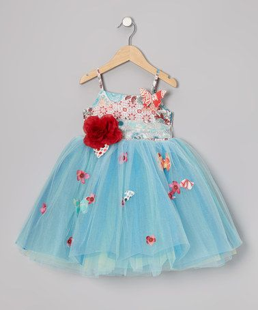 Take a look at this Red & Blue Amelia Dress - Toddler & Girls by Moxie & Mabel on #zulily today!