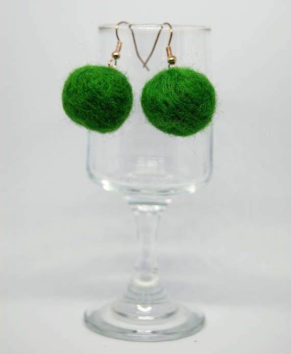 Check out this item in my Etsy shop https://www.etsy.com/uk/listing/524590354/pom-pom-needle-felted-bead-earrings