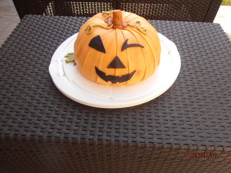 Tök torta halloweenre