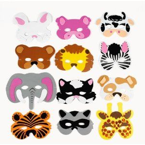 I think these could work for a Go Diego Go birthday party. ~12 Asst. Kids Foam Animal Face Masks Zoo Farm Party