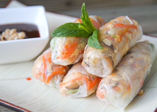 Vietnamese Vegetarian Rice Paper Rolls My Stepmom Makes Something Really Similar And They Re