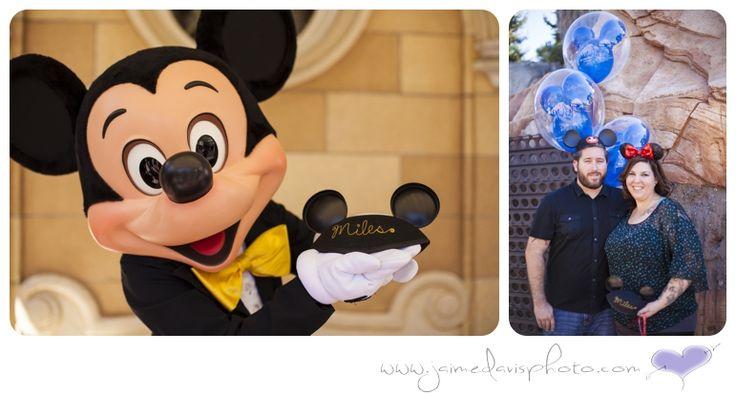 Disneyland Gender Reveal Photos  by Jaime Davis Photography
