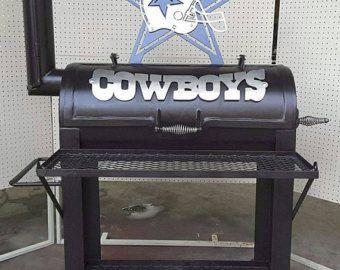 BBQ pit Dallas Cowboys smoker COOKING WOOD: by MetalArtCreation