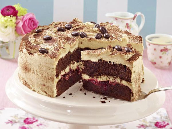 Mokkatorte / mocca cake (german, deutsch - Lecker.de)