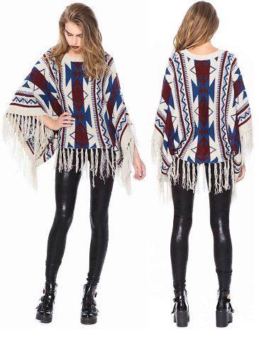 Gorgeous Aztec Poncho #winter #poncho  www.appletreeboutique.com.au