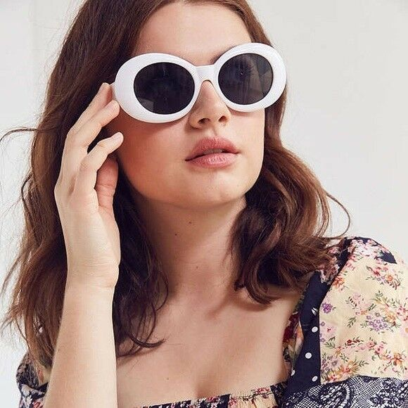 Clout Goggles Kurt Cobain Glasses Oval Sunglasses Party Dress Up Costume