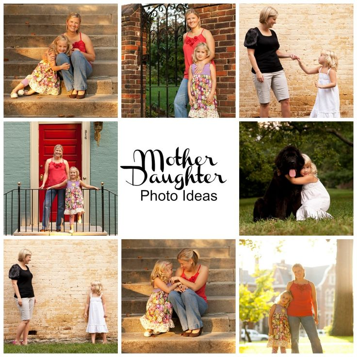 Mother Daughter Picture Ideas