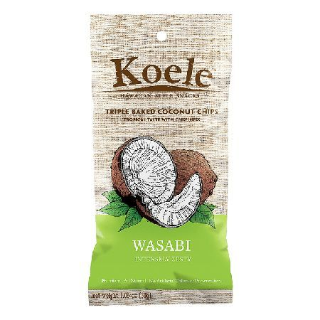 Koele Baked Coconut Chips Wasabi - 30g 000788 Made of Coconuts selected from the best tropical islands the world has to offer, Koele coconut chips are hand-cut and triple baked to a crunchy perfection. Like the chiefs farmers of ancient hawaii, w http://www.MightGet.com/january-2017-11/koele-baked-coconut-chips-wasabi--30g-000788.asp