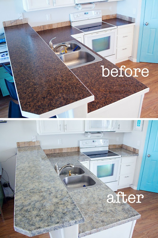 icreate with love changing up your kitchen countertops with giani granite countertop paint. Black Bedroom Furniture Sets. Home Design Ideas