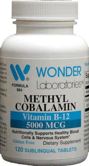 Methylcobalamin B12, Sublingual Vitamin B-12 5000mcg - 120 Tablets
