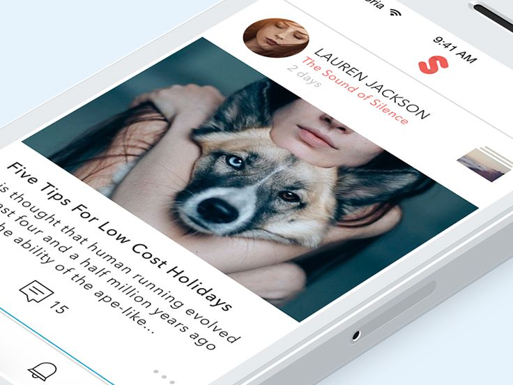 Feed screen and Moment view for storytelling social app Storia by Igor Dolgov