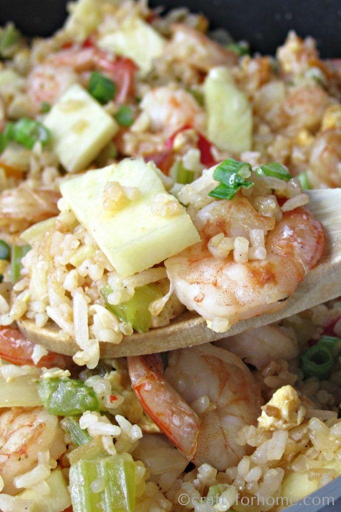 Shrimp Pineapple Fried Rice Recipe Easy Recipes Pinterest