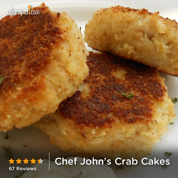 "Chef John's Crab Cakes | ""Awesome Recipe, and so easy. They were fresh and delicious. Can't wait to make again"""